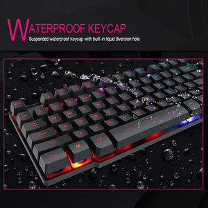Laser-engraved Keyboard w/ Silent Click Mouse