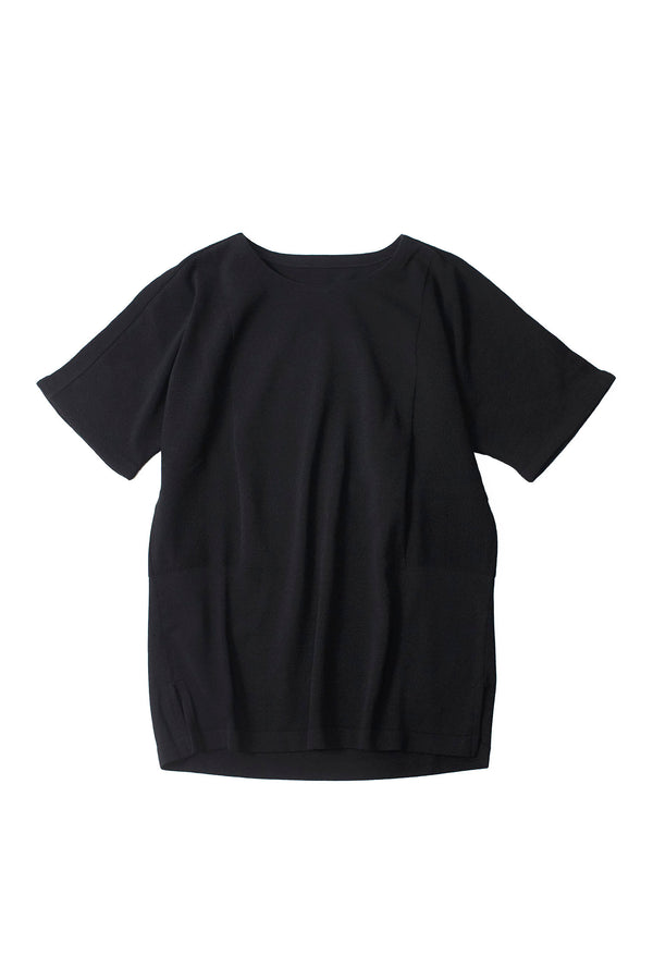 12G Cotton Dolman Knit BLACK | YANTOR