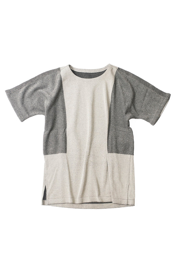 12G Cotton Dolman Knit Gray beige | YANTOR ヤントル