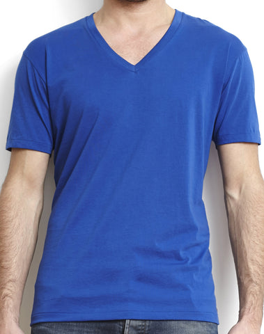 Black Pima Men's Classic V-Neck Tee
