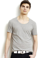 Black Pima Men's O-Neck Tee