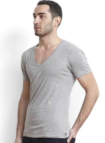 Black Pima Unisex Deep V-Neck Tee