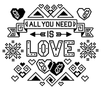 All You Need is Love Cross Stitch Chart