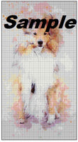 Collie Watercolor Cross Stitch Chart