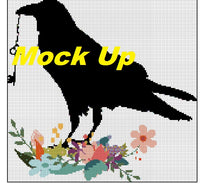 Key Crow Cross Stitch Chart