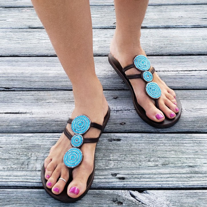 Global Girls Triple Circle Sandals