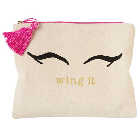 WING IT CANVAS PRINT MAKE-UP CASE
