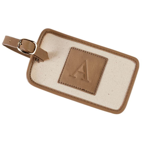 CANVAS INITIAL LUGGAGE TAG