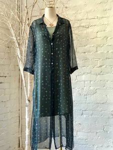 MINU SILK BUTTON-UP DRESS