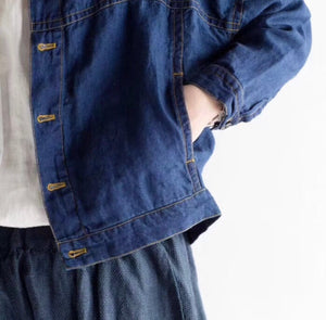 MARQ DENIM LINEN JACKET