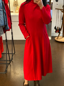 GUAN 2YL020 RED DRESS 39.6%NYLON, 55.8%TENCEL, 4.6%SPANDEX