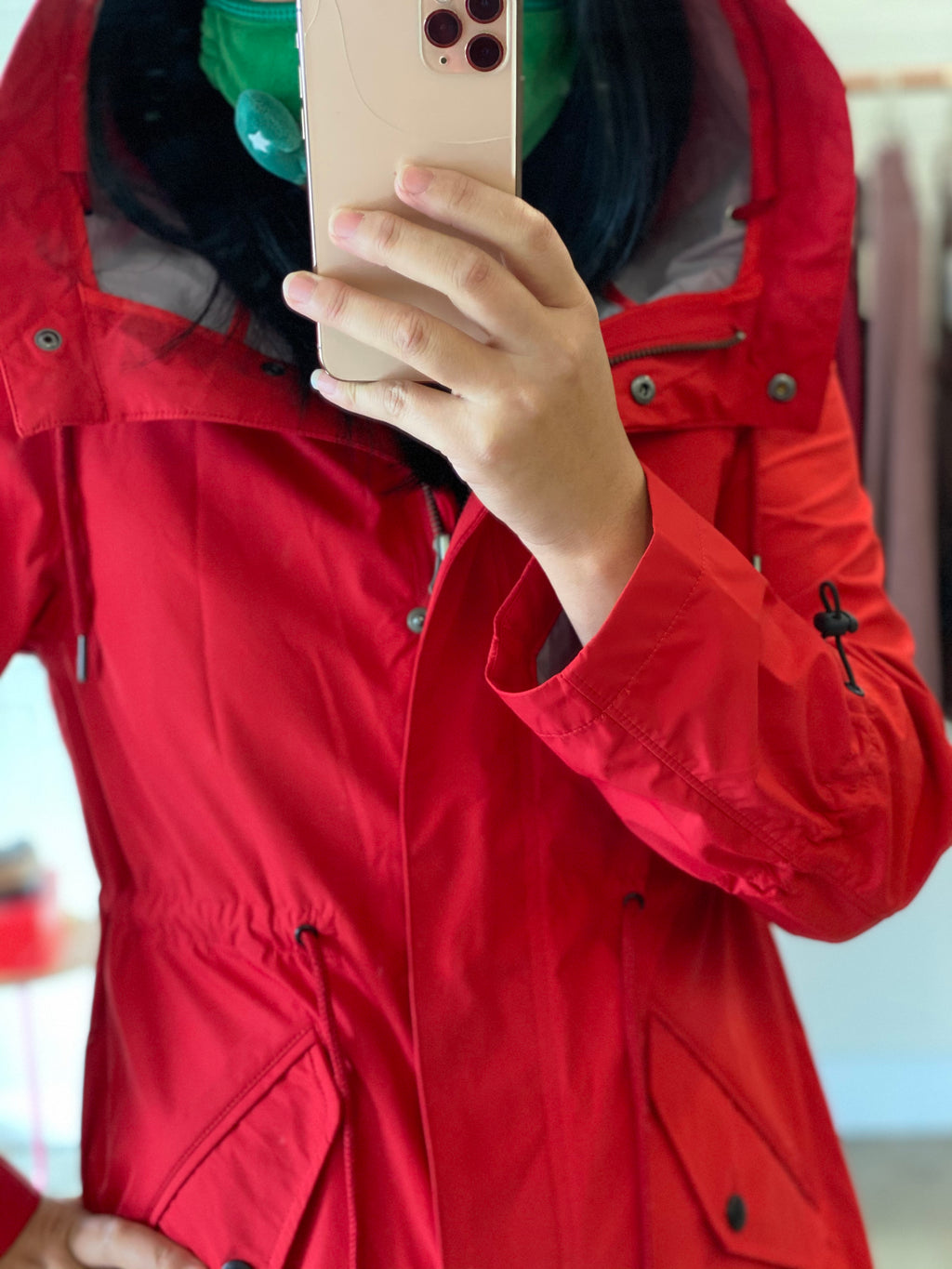 ZHUI 8916 RAINCOAT (100% TERYLENE OUTSIDE, MICROFIBER LINING, WATER PROOF)