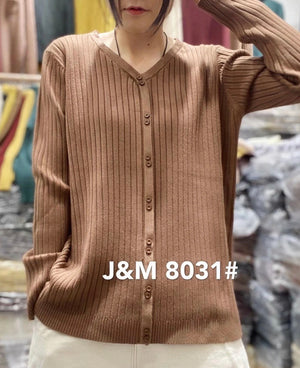 J.M 8031 RIBBED BUTTON DOWN PULL OVER COTTON, 30%MODAL, 20%POLYSTER