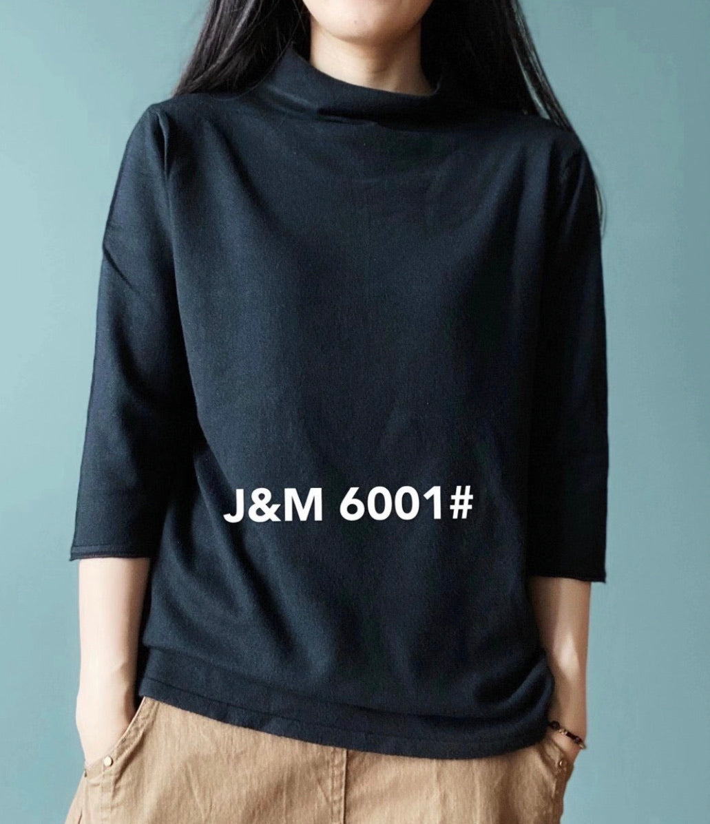J.M 6001 MOCK TURTLE NECK 40% Cotton, 40% Modal, 20% Polyester