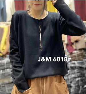 J.M 6018 ROUND NECK PULLOVER COTTON, 30%MODAL, 20%POLYSTER