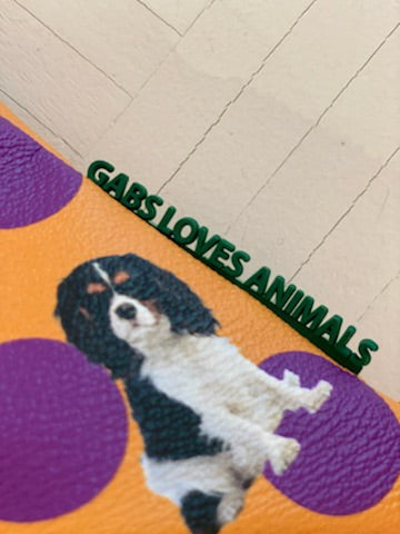 GABS LOVES ANIMALS CAVALIER KING ORANGE + PRUNE