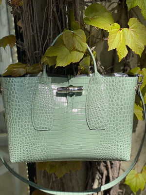 LONG 10058HTS323 RO CROC SHOULDER TOTE