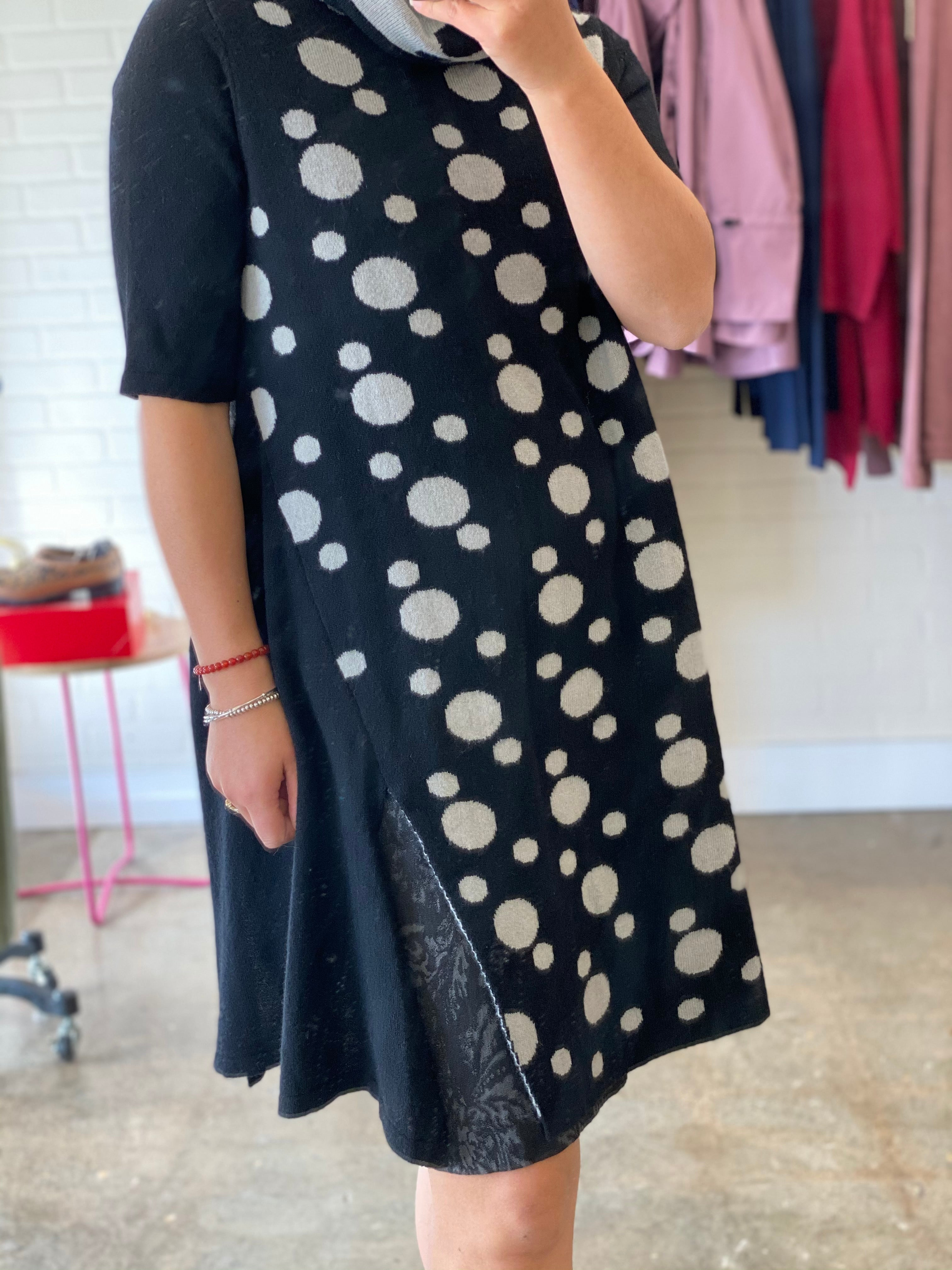 OUSH WOOL POLKADOT DRESS