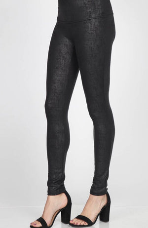 M.RENA B4818 TWILL FAUX LEATHER LEGGINGS