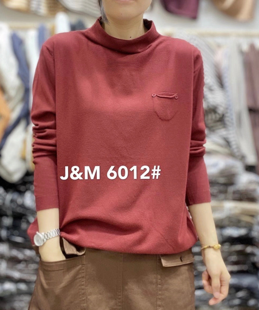 J.M 6012 PULLOVER 50%COTTON, 30%MODAL, 20%POLYSTER