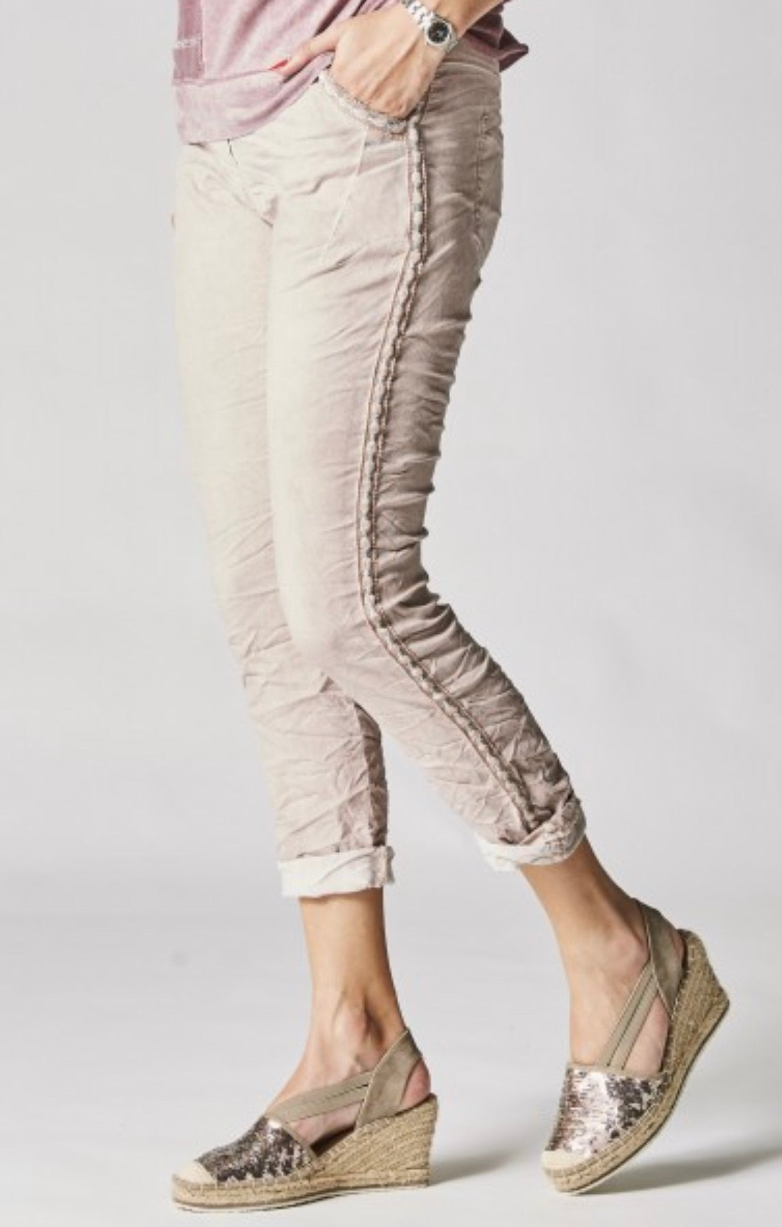Jeggings Silver Braided Details