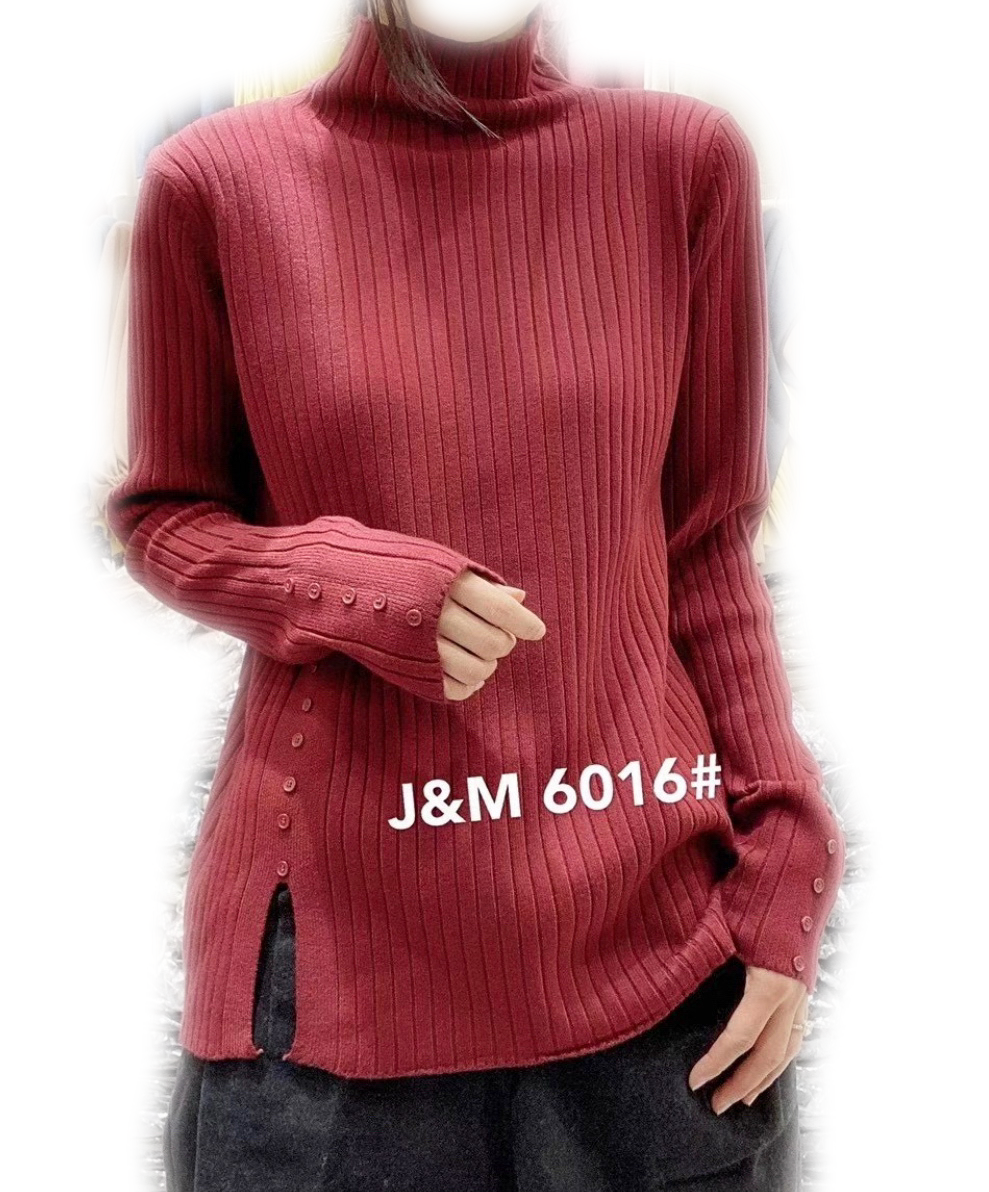 J.M 6016 PULL OVER 50%COTTON, 30%MODAL, 20%POLYESTER