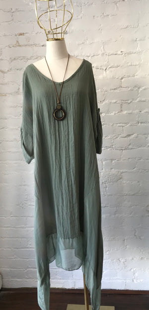 LOOK 9213V LINEN/COTTON DRESS