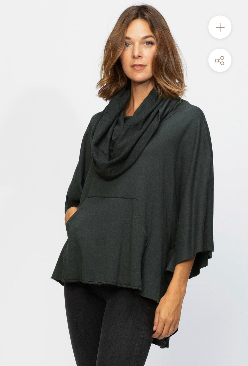 WEAR Paige Poncho Black