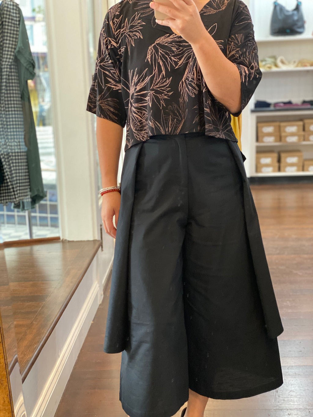 MINU Black Skirt Pant 100% linen