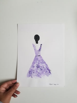 Women in Purple - 5 variations