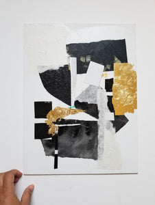 Minimal Abstract Collage Art for the Home or Office