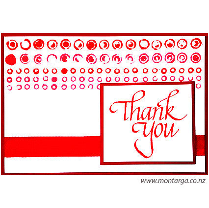 Thank You - Hand Printed Background