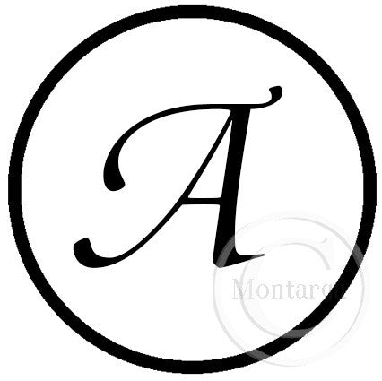 0379 A - Plain Circle Monogram - Custom
