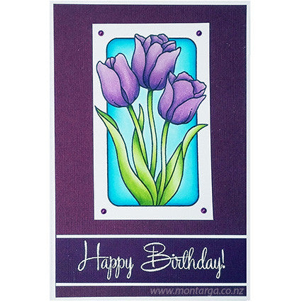 Tulips in Frame - Purple