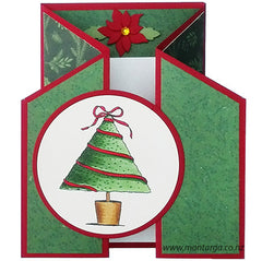Christmas Tree - Reverse Gate Fold