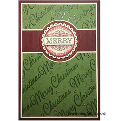 Merry Christmas Embossed Background