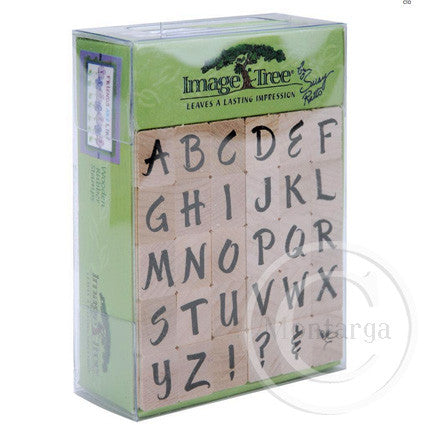 Brush Upper Case Alphabet Set