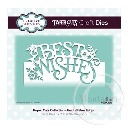 Paper Cuts Collection - Best Wishes Edger CEDPC1068