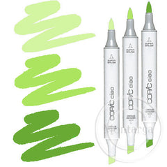 Bright Green Blending Trio Copic Ciao Markers