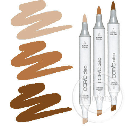 Brown Blending Trio Copic Ciao Markers