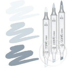 Grey Cool Blending Trio Copic Ciao Markers