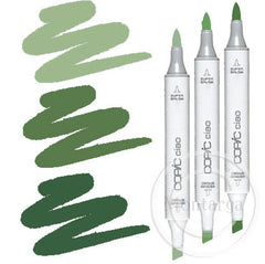 Green Blending Trio Copic Ciao Markers
