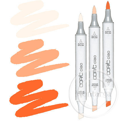 Orange Blending Trio Copic Ciao Markers