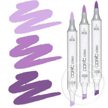 Violet Blending Trio Copic Ciao Markers