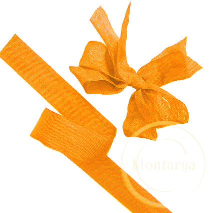 327 Mango Orange Seam Binding Ribbon - 3 metres