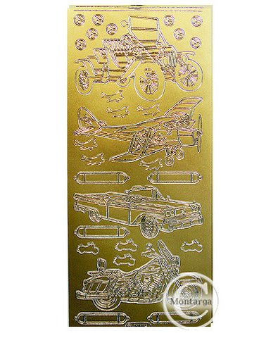 PC1009G Classic Cars & Planes Gold