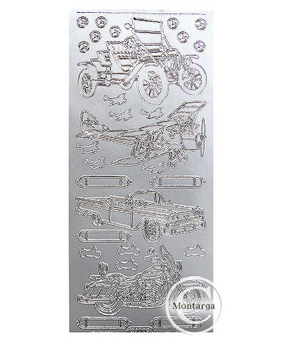 PC1009S Classic Cars & Planes Silver