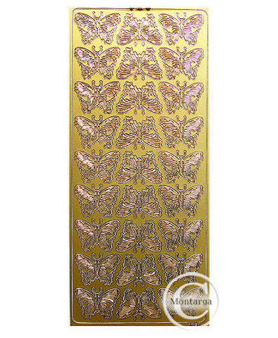 PC1631G Butterflies Gold