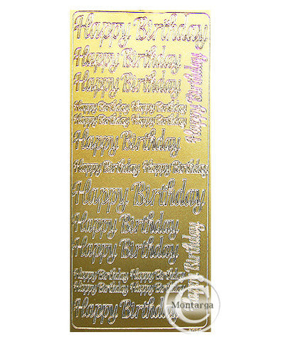 PC2694G Happy Birthday Lg Text Gold