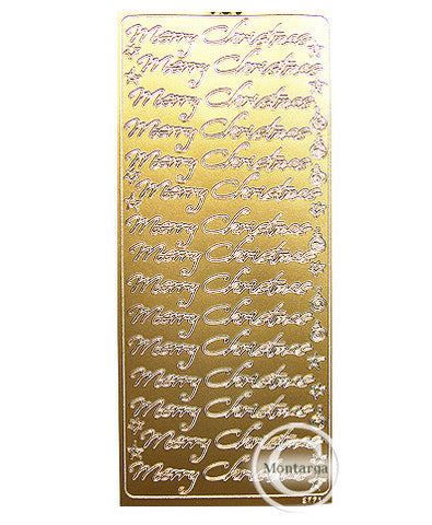 PC2771G Merry Christmas Script Gold